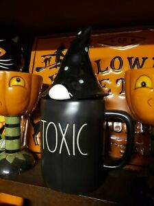 Halloween Rae Dunn black toxic gnome mug with gnome topper usa import tkmaxx