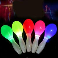 1X Flashing Multi Color LED Maracas Light Up Neon Sensory New Toy Shaking T7R6