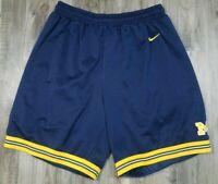 Vintage 90s Nike Team Michigan Wolverines NCAA Basketball Shorts Mens XL Fab 5