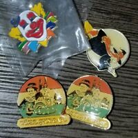 Vintage Epcot 2 Pins Walt Disney World Showcase Button Hinged Back 80s & 2 free!