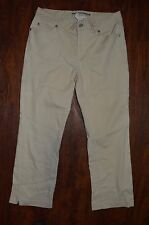 Womens GAP Capri Denim Jeans ~ Off White ~ Sz 2 ~ Stretch ~ Boot Cut