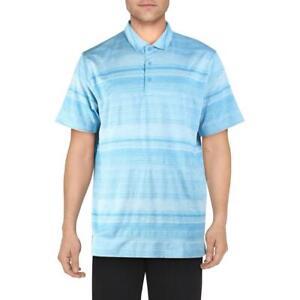 Puma Mens Variegated Polo Blue Striped Activewear Polo Shirt XL  8058