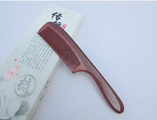 Purple Nice 2-4 QiaoYaTou Natural Violet Wood Health Care Comb with Handle