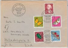 BUTTERFLIES Insects - SWITZERLAND - POSTAL HISTORY: FDC COVER Pro Juventute 1957