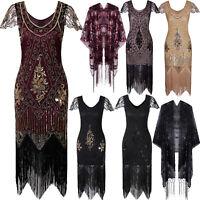 Ladies 20s 1920s Roaring Flapper Costume Sequined Gatsby Fancy Dresses Plus Size