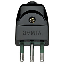 VIMAR SPINA 2P+T 10A 10A ASSIALE NERO 00201