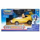Sonic the Hedgehog Tails Racing Pull Back Race Action Car Figure Gift Toy Kids