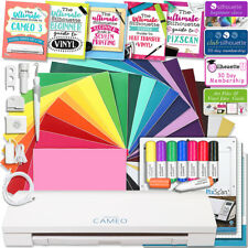 Silhouette Cameo 3 Bluetooth Educational Bundle Oracal Vinyl, Guides, Class, and