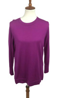Banana Republic Women's Size L Extra Fine Merino Wool Pullover Sweater Purple