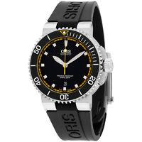 Oris Aquis Black Dial Silicone Strap Men'S Watch 73376534127Rs