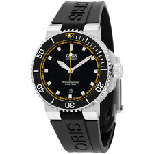 Oris Aquis Automatic Black Dial Silicone Strap Men's Watch 73376534127RS
