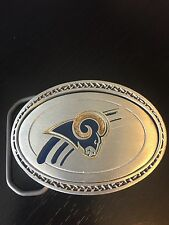 Los Angeles Rams Belt Buckle Great American Buckle Co. Fine Pewter 2000 Numbered
