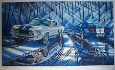 SHELBY MUSTANG GT500KR ART 1968 2008 428 FORD GT500 VISTA BLUE 5.4 SUPER SNAKE