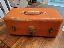 Vintage Simonsen Chicago 51 Tackle Box Orange Lawrence Nelson Lure Holder
