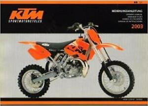 KTM 65 SX OWNER'S MANUAL 2003