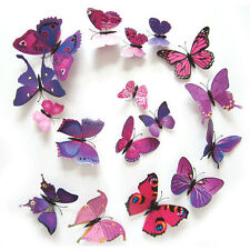 12 pcs 3D PVC magnet butterflies insect DIY wall sticker home decoration