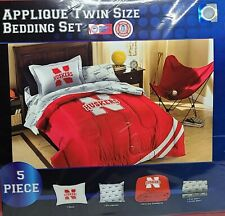 Nebraska Cornhuskers Twin Bedding Comforter Set w/ Shams Pillowcases Sheets