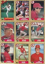 1986-87-88-89-90 Topps Cardinals master team sets with traded Mint razor sharp