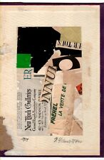 Kurt Schwitters - 0024  SIGNED  COLLAGE ON OLD ORIGINAL PAPER