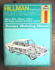 Haynes manual #33 HILLMAN & VARIANTS (HUNTER & MINX)