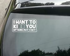 Kiss or Kill Funny Car/Window JDM VW EURO Vinyl Decal Sticker
