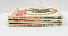 Award Books, Planet of the Apes Paperbacks - Escape, Conquest, Battle - Vg