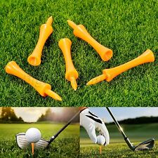 100Pcs/bag Plastic Step Down Golf Tees 70mm Graduated Castle Tee Height Control