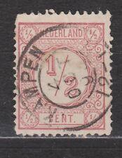NVPH Netherlands Nederland 30 used TOP CANCEL KAMPEN Cijfer 1876 Pays Bas