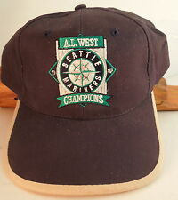 1997 Seattle Mariners Baseball Cap A.L. West Champs New w/o Tags Adjustable