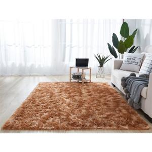 Tie Dye Fluffy Rug Ultra Shag Carpet For Living Room Bedroom Big Area Rugs
