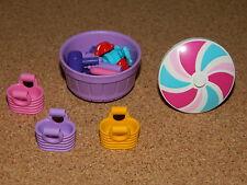 Lego friends BASKETS x3 yellow purple pink + 25 accessories + umbrella + bucket