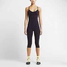 Nike  XS Women's INSIDE GYM BODYSUIT w Sports Bra NEW $95 643349 010 Black Volt