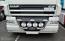 Grill Bar + Spots For DAF CF 2014 Chrome Stainless Steel Front Lamps Bar Truck