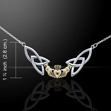 Celtic Claddagh .925 Sterling Silver Necklace by Peter Stone