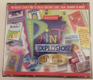 Print Explosion Deluxe Software For MAC Custom Design Cards Signs Banners & More