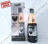 Huile à Barbe 100% Naturel 8 Huiles Ricin Argan.. 30ml Beard Oil Aceite de Barba