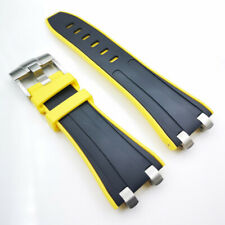 28mm Rubber Band 20mm Buckle Silver Connector Strap for AP Royal Oak Offshore #4
