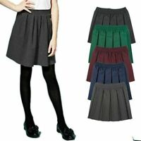 Girls All Round Box Pleated 2-18 Years Elasticated Waist School Uniform Skirt