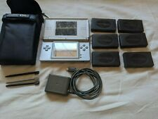 Nintendo DS Lite Launch Edition Silver Handheld System Bundle