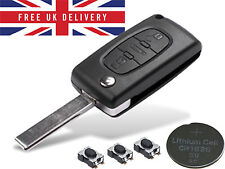 Remote Control Key Fob 3 Button Case For Peugeot 207 308 407 Refurbish Kit