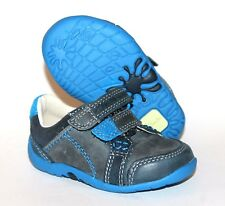 Clarks Softly To Infants UK 3 G (Wide Fit) EU 18.5 Blue Leather New First Shoes