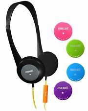 Maxell Action Kids Headphones With Mic - Stereo - Wired - Over-the-head -