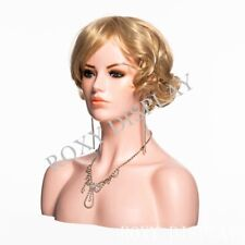 Hot Selling Female Plastic Mannequin Head Bust Display #PS-H11F