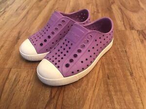 NATIVE Girls Toddler Kids Slip On Purple JEFFERSON Water Shoes Size C8 8