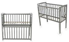 Beistellbett Babybett 90x40 Schaum Matratze höhenverstellbar Räder grau