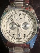🔥 Citizen Eco Drive Watch E014-S042135 Men's Fashion Silver Running Excellent!