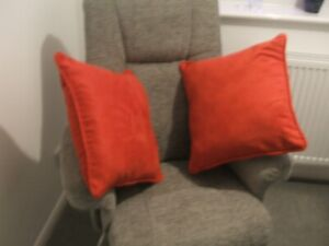 Two Cushions with Red covers