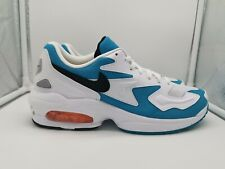 Nike Air Max 2 Light Dolphins UK 9.5 Blue Lagoon White Orange AO1741-100