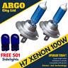 2x H7 super blanca Xenón 100w HID INFERIOR/Bombillas Luces De Cruce 499 477 501
