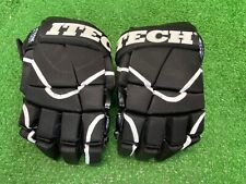 Itech Hg2200 14� Black Hockey Gloves w/Flex-Thumb Very Good Condition